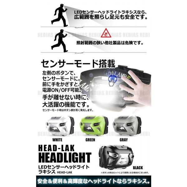 センサー ヘッドライト USB 充電式 高輝度 丸型 超小型LED 超強力 フラッシュ 点滅 ヘッドランプ LED 作業灯|rebias|03