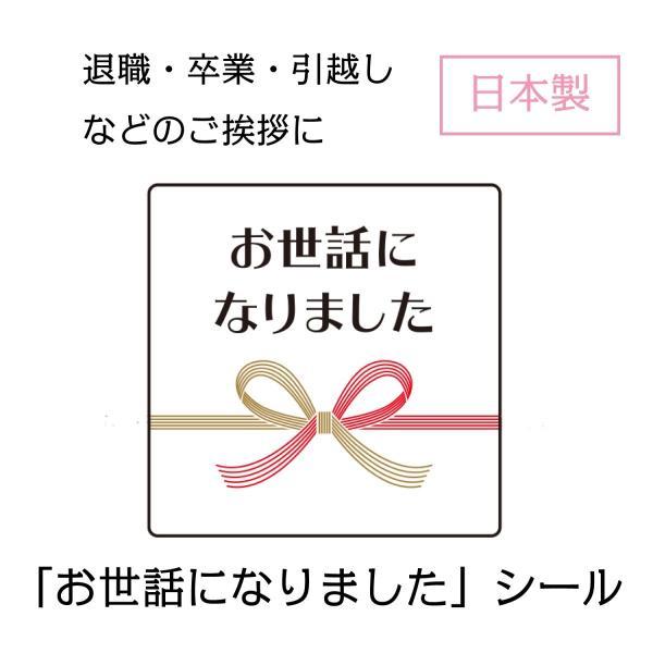 お世話になりました シール 30枚 水引き 日本製 リボン 上品 和風 退職 卒業 引越し ギフト プレゼント|rebirthlife