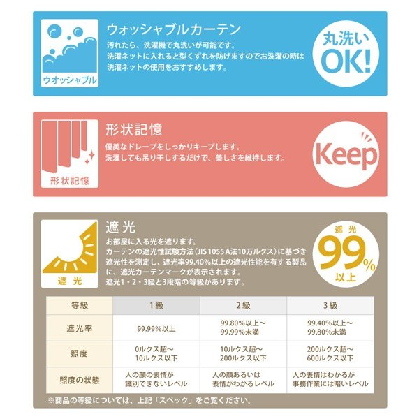 カーテン ドレープ Check2 (幅100/200cm×丈80cm〜140cm)/7日〜10日後お届け最短|receno|03