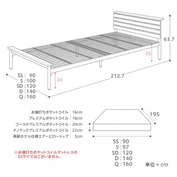 ベッド CINERARIA セミダブルサイズ フレームのみ ヴィンテージ 西海岸 インダストリアル 送料無料|receno|20