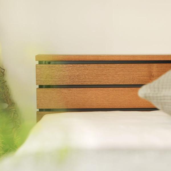 ベッド CINERARIA セミダブルサイズ フレームのみ ヴィンテージ 西海岸 インダストリアル 送料無料|receno|06