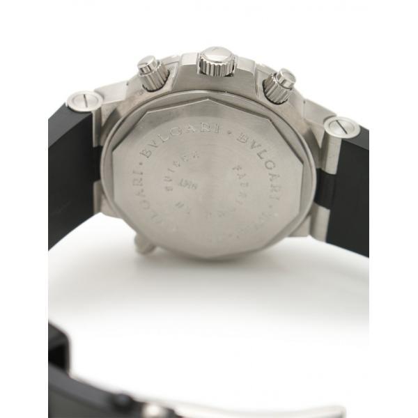 9f399fb68f23 ... ブルガリ BVLGARI ディアゴノ スクーバ GMT 自動巻き 腕時計 メンズ シルバー 黒 SD38SGMT メンズ 中古 reclo  ...