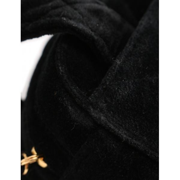 シャネル CHANEL マトラッセ ハンドバッグ ベロア 黒 レディース