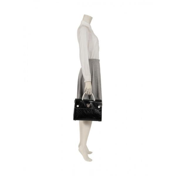 クリスチャンディオール Christian Dior ディオールエヴァー ハンドバッグ レザー 黒 2WAY レディース