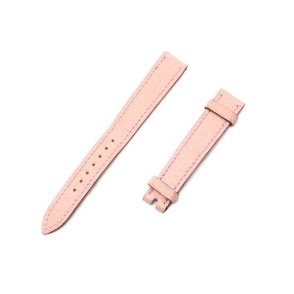 エルメスHERMES替えベルトアリゲーターマットピンク腕時計用Hウォッチロンド対応□O刻印レディース中古