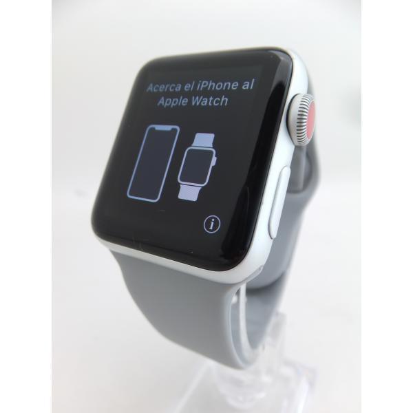 Apple AppleWatchSeries3Nike+(GPS+Cellularモデル)38mmシルバーアルミニウムケース