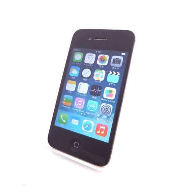 中古 【ソフトバンクSIMロック】 iPhone4 16GB ブラック MC603J/A