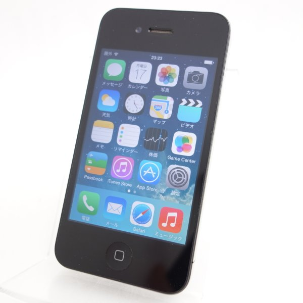 中古 【ソフトバンクSIMロック】 iPhone4 32GB ブラック MC605J/A