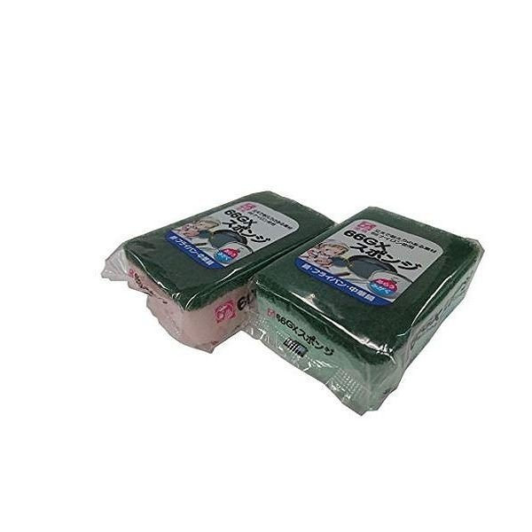 オーエ 金鳥 ナイロン 66GX スポンジ ピンク グリーン 約11.5×7.5×4cm プラスチック 陶器に 鍋 フライパン 中華鍋