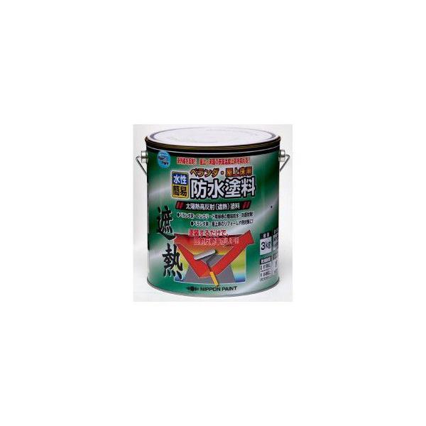 ニッペ ホームペイント 水性ベランダ・屋上床用防水塗料 3kg クールグリーン