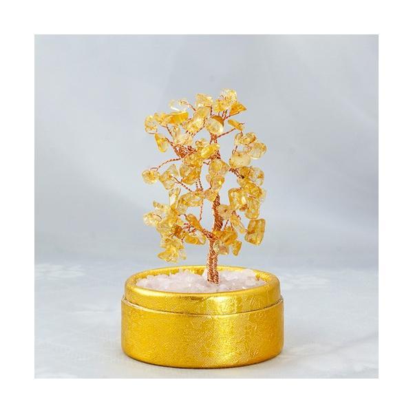 TENKAPAS キュート 天然石 シトリン 金のなる木 招財樹 商売繁盛祈願 パワーストーン 置物 st0000-25 TENKAPAS 代引不可