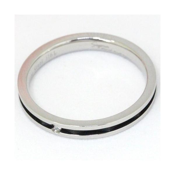 Pure 金属アレルギー対応 ノンアレルギー ステンレス316L ダイヤモンド ペア リング PMS-022-15 代引不可
