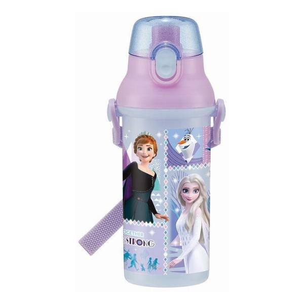 正規販売店 スケーター 抗菌食洗機対応直飲みワンタッチボトル 480ml アナと雪の女王 21 銀イオン Ag+ 子供 すいとう