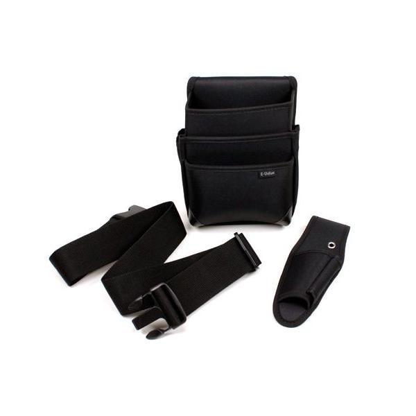 E−Value・電工腰袋3点セット‐ブラック・ED3BOX-BKN・大工道具・収納用品・その他腰袋・サック2・DIYツールの画像