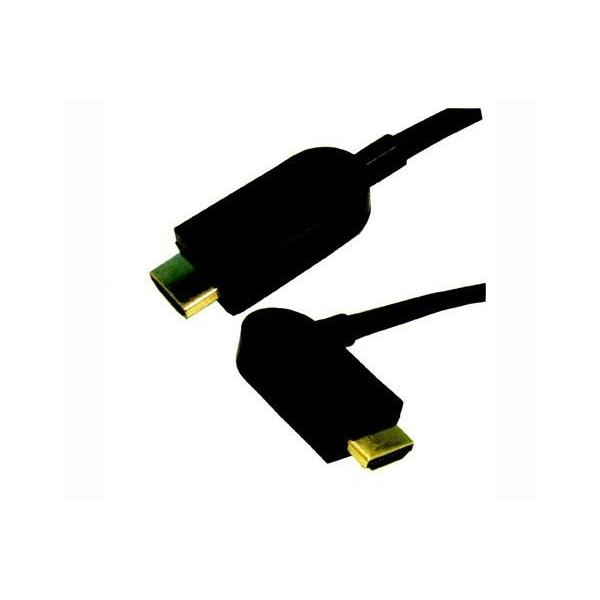 単品 HDMIケーブル(両端横折可変プラグ)1m MHDMI-YSP1