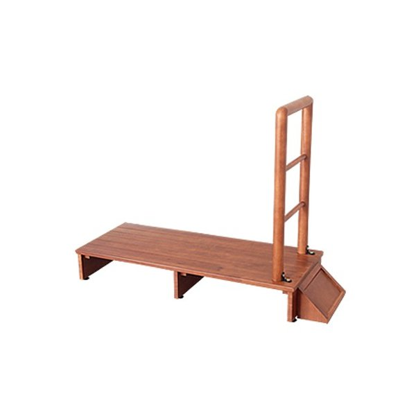 木製 手すり付き玄関踏み台 100cm幅 手すり 踏み台 手すり付き玄関台 踏み台 木製玄関台 台 転倒防止 シンプル 木製 代引不可
