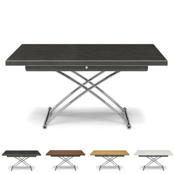 昇降テーブル センターテーブル テーブル 幅130 奥行80 高さ39~73.5 完成品 白杢目黒杢目ハイグロスシート UV塗装 プラント 130 代引不可