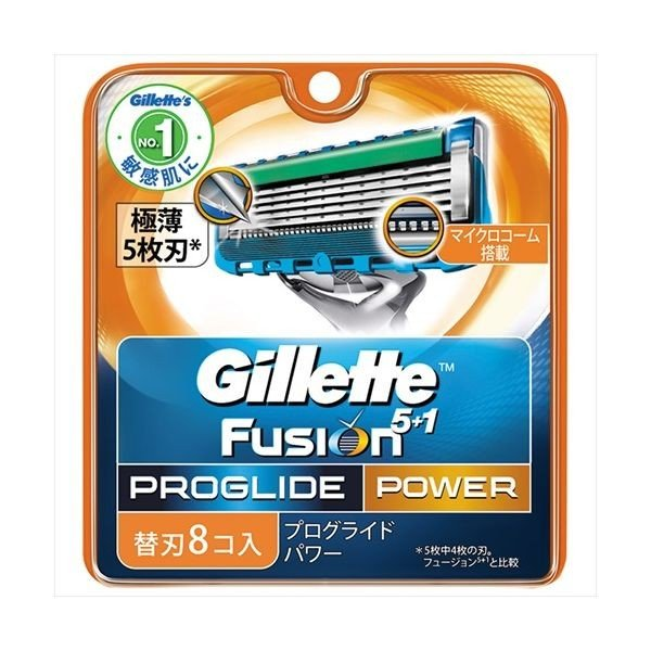 P&G ジレット ジレット プログライドパワー替刃 8個 カミソリ 男性用 替刃 代引不可