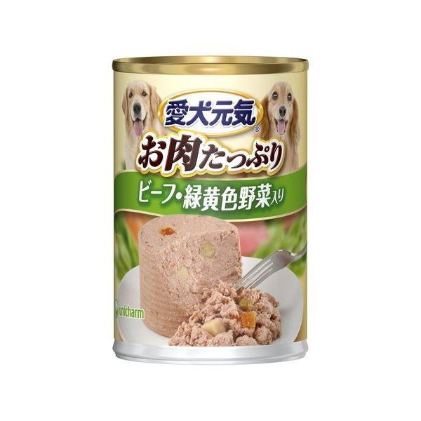 ユニ・チャーム 愛犬元気缶ビーフ・緑黄色野菜入り375g