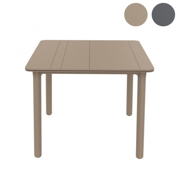 RESOL レソル ガーデンテーブル 90×90cm NOAテーブル スペイン 樹脂製 ガーデン テーブル テラス ガーデンファニチャー ガーデン家具 代引不可
