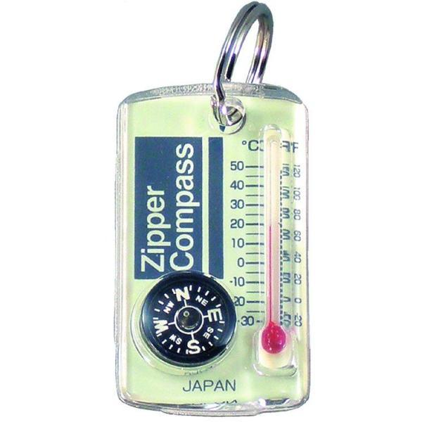【MIZAR-TEC】ミザールテック ジッパーコンパス 温度計付 クリア 日本製 NO15A /10点入り 代引不可