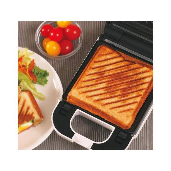 着脱式シングルホットサンドメーカーKDHS-003W耳6枚切り食パン対応厚焼きプレスサンドメーカー1枚焼きサンドウィッチメーカー