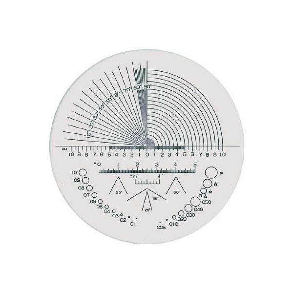 リーフ ガラススケール S-202 光学・精密測定機器・ルーペ