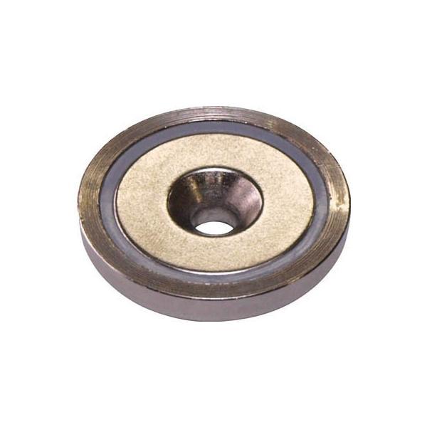 マグナ ネオジ磁石プレートキャッチ 皿穴タイプ 1-NCC25RA マグネット用品・マグネット素材