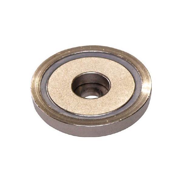 マグナ ネオジ磁石プレートキャッチ 段穴タイプ 1-NCC25RB マグネット用品・マグネット素材