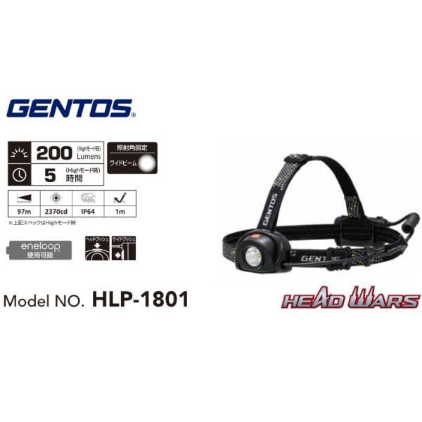 GENTOS ジェントス ヘッドウォーズ ワーキングヘッドライト HLP-1801