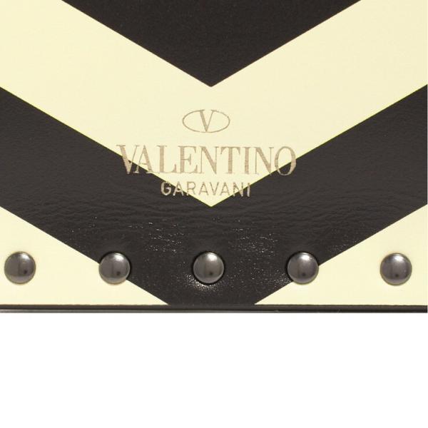 Valentino Garavani クラッチバッグ ROCKSTUD CHEVRON CLUTCH QW1P0P56ETJ レディース LIGHT IVORY NERO L11