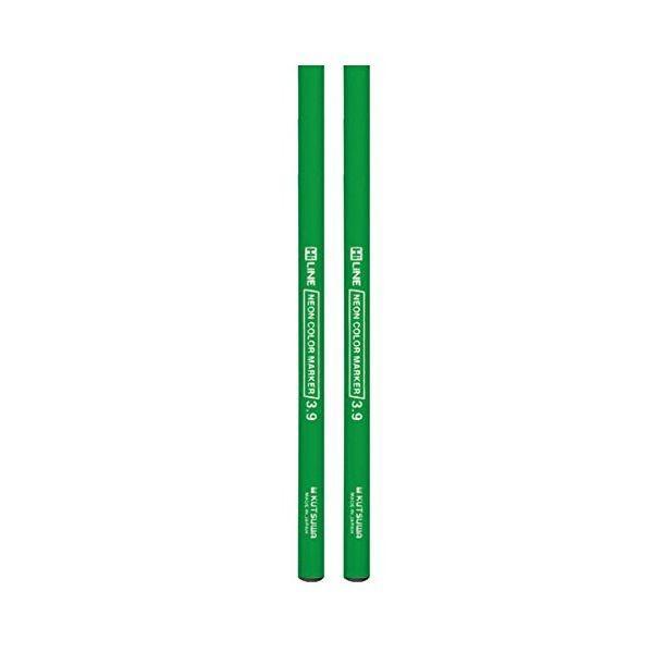 クツワ 鉛筆の蛍光マーカー2本セット PA005GR
