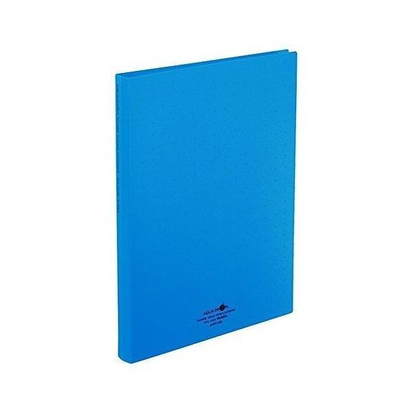 リヒト 名刺ファイル A4 300 青 A-5042-8 1冊