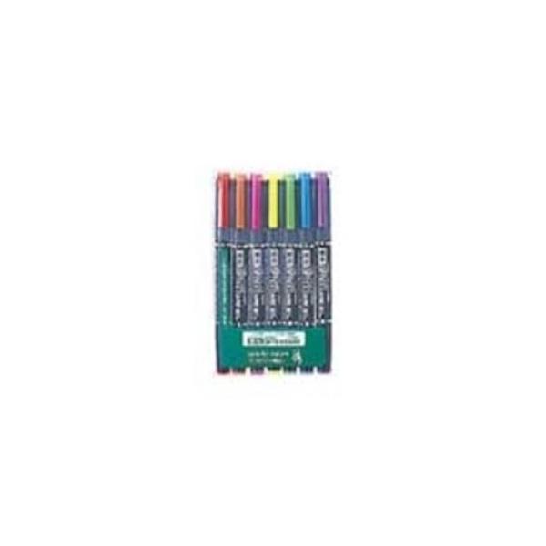 (業務用5セット) ZEBRA ゼブラ 蛍光マーカー/蛍光オプテックスケア 〔7色セット〕 水性顔料インク WKCR1-7C
