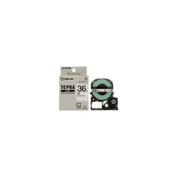 (業務用2セット) キングジム テプラPROテープ/ラベルライター用テープ 〔幅:36mm〕 SS36K 白に黒文字