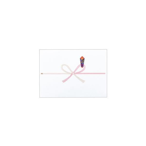 (まとめ) 寿堂 祝のし紙 花結 B5 コピー用FSC森林認証紙 55704 1パック(100枚) 〔×10セット〕