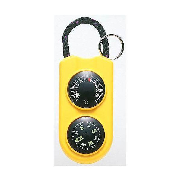 (まとめ)EMPEX 温度計・コンパス サーモ&コンパス FG-5124 イエロー〔×5セット〕