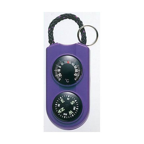 (まとめ)EMPEX 温度計・コンパス サーモ&コンパス FG-5126 パープル〔×5セット〕