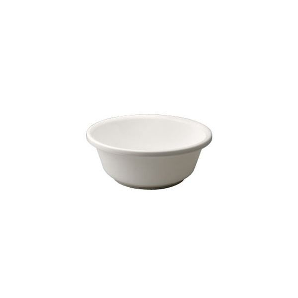 〔40セット〕 シンプル 風呂桶/湯桶 〔脚ゴム付き ホワイト〕 27×10.2cm 材質:PP 『HOME&HOME』〔代引不可〕