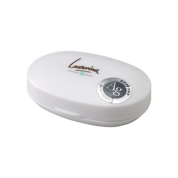 〔30セット〕 石鹸箱/石鹸置き 〔プラチナホワイト〕 材質:EVA 『AGラスレウ゛ィーヌ』〔代引不可〕