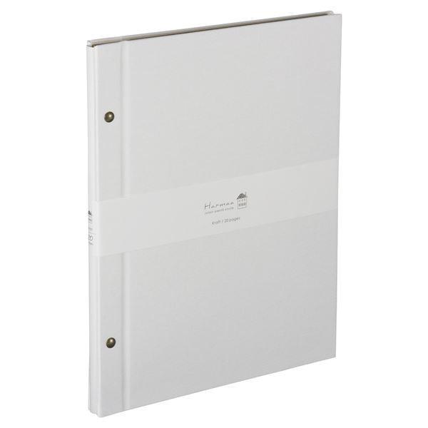 (業務用2セット) ハルマー フリーアルバム A-HRA4-301-W ホワイト