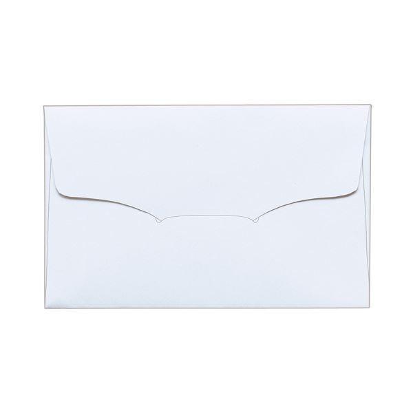 (まとめ) TANOSEE 名刺型封筒112×70mm 上質紙 104.7g 1セット(100枚:10枚×10パック) 〔×5セット〕