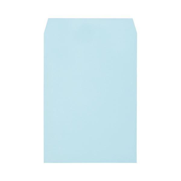 キングコーポレーション ソフトカラー封筒角2 100g/m2 ブルー 業務用パック 160203 1箱(500枚)
