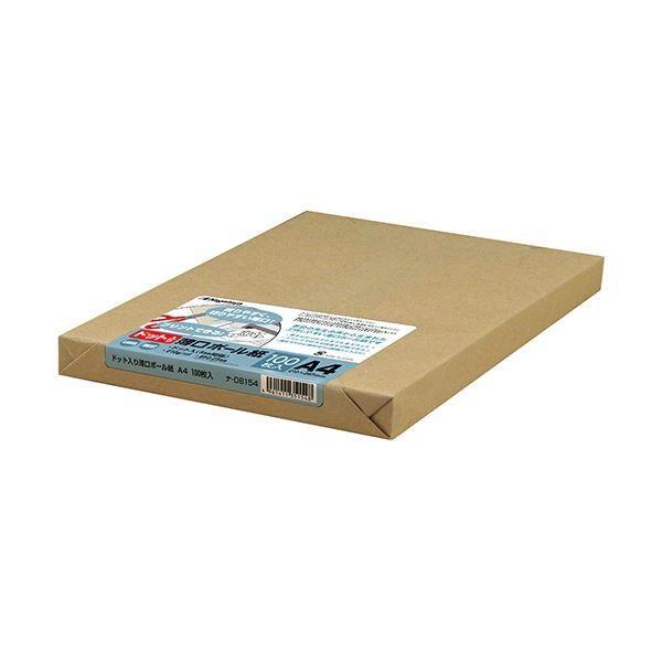 (まとめ) 長門屋商店 ドット入薄口ボール紙 A4ナ-DB154 1パック(100枚) 〔×2セット〕