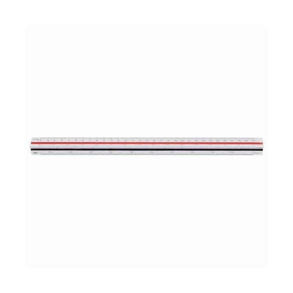(まとめ)ライオン事務器 三角スケール 土木用300mm No.544 1個〔×2セット〕