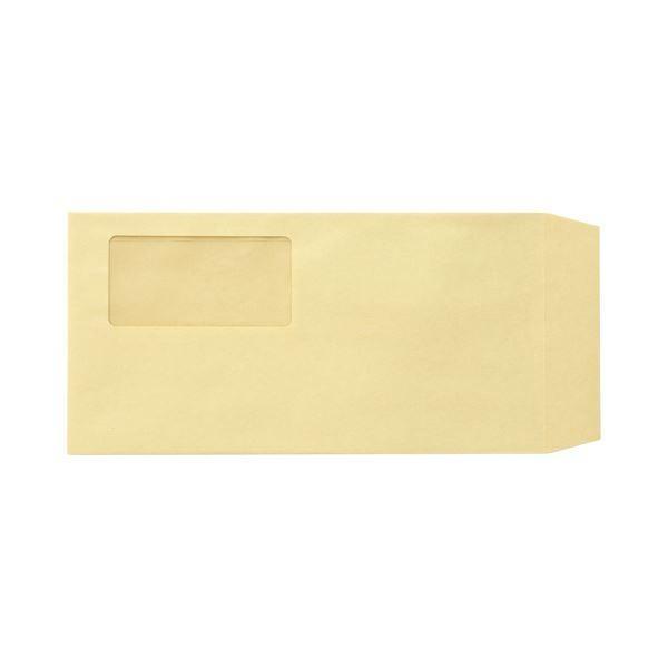 (まとめ)TANOSEE 窓付封筒 ワンタッチテープ付 長3 70g/m2 クラフト 業務用パック 1箱(1000枚)〔×3セット〕