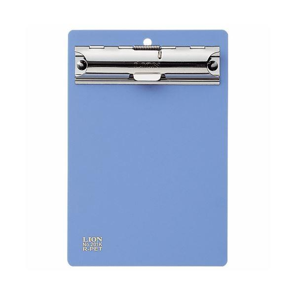 (まとめ) ライオン事務器 PETカラー用箋挟B7タテ ブルー No.201K 1枚 〔×50セット〕