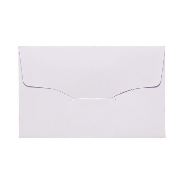 (まとめ) 名刺型封筒 112×70mm 100g/m2 白 ベ567 1パック(10枚) 〔×100セット〕