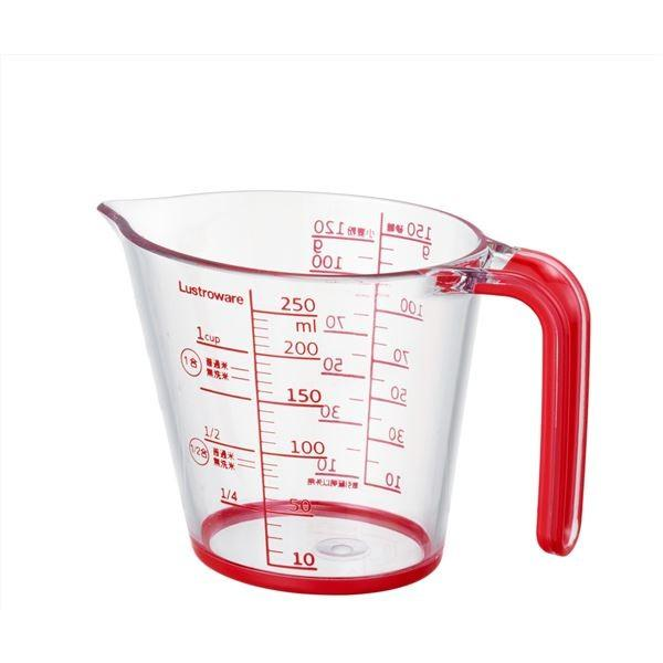 (まとめ) メジャーカップ/計量カップ 〔250ml〕 楕円形状 キッチン用品 〔×60個セット〕