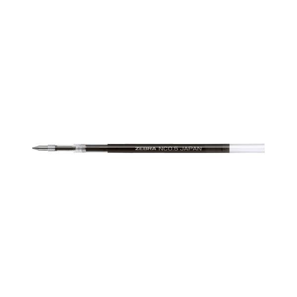 (まとめ) ゼブラ エマルジョンボールペン替芯 NC-0.5芯 黒 ボール径:0.5mm〔×50セット〕
